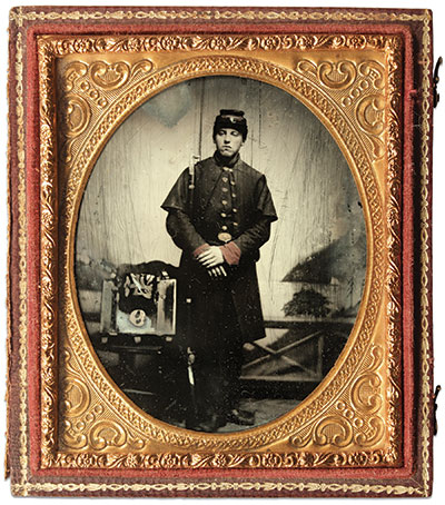 Sixth-plate ambrotype by an anonymous photographer. Buck Zaidel Collection.