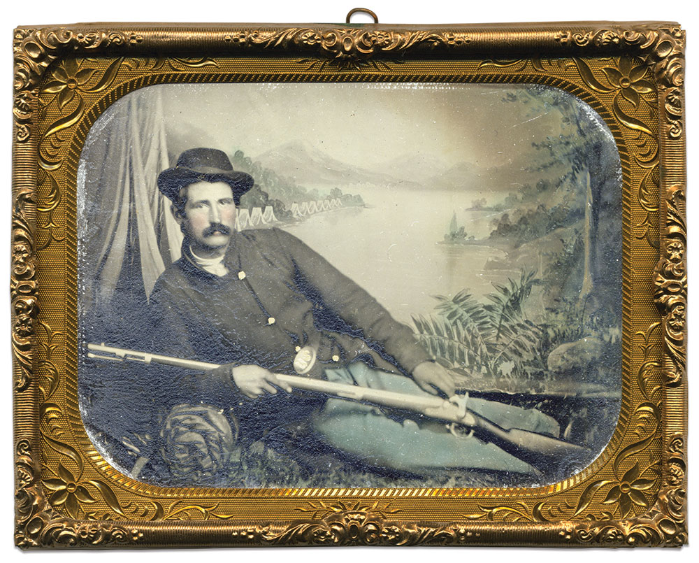 Quarter-plate tintype by an anonymous photographer. Rob Lyon Collection.