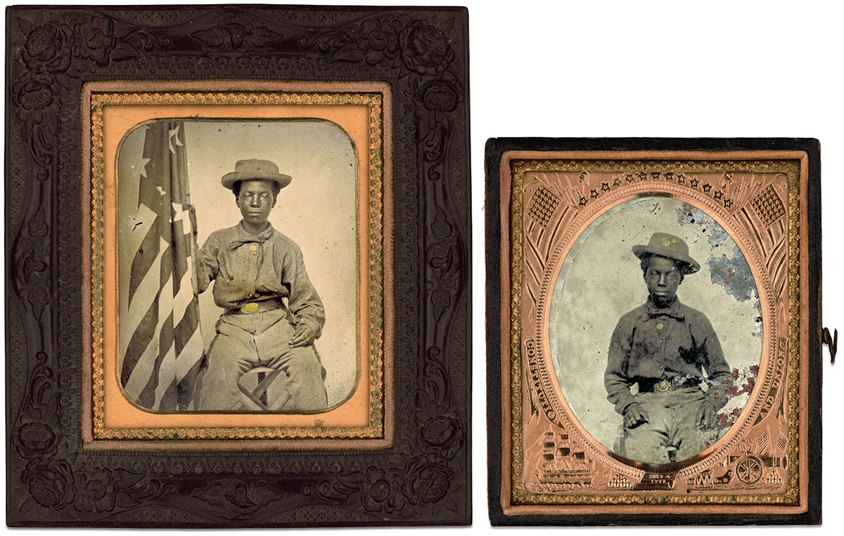 Sixth-plate tintypes by an anonymous photographer. The Liljenquist Family Collection at the Library of Congress.
