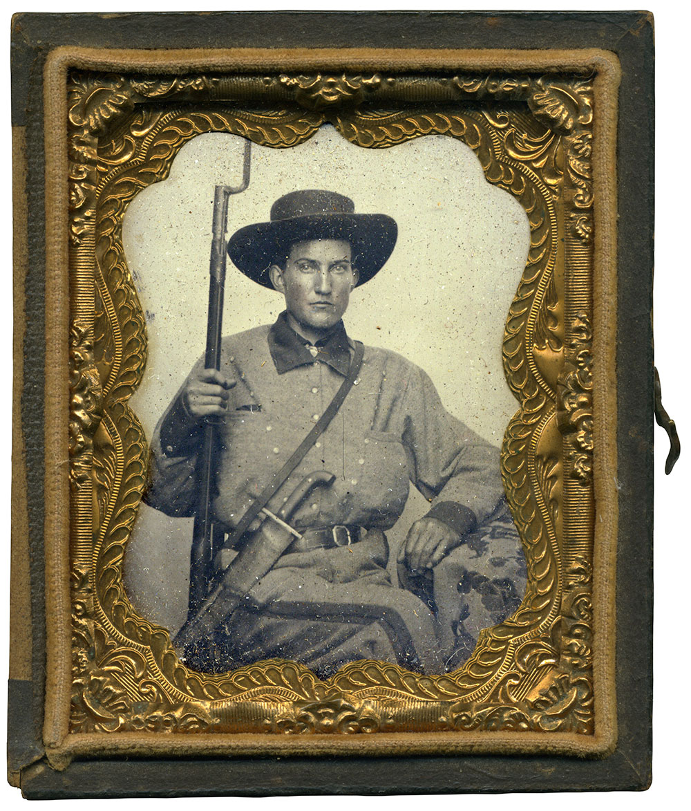 Ninth-plate tintype by an anonymous photographer. Rusty Hicks collection.