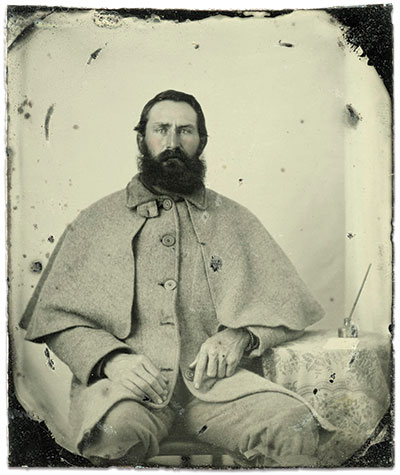 Sixth-plate ambrotype by an anonymous photographer. Paul Russinoff Collection.