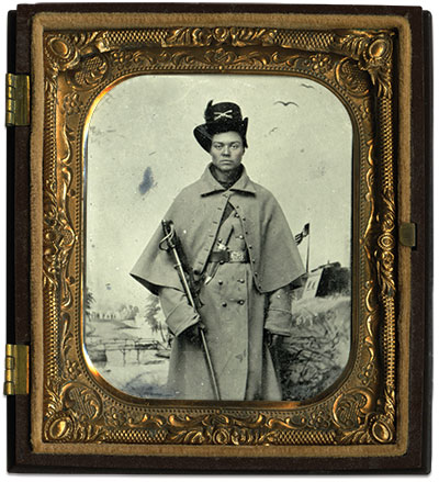 Sixth-plate tintype by Enoch Long of St. Louis, Mo., John Robella Collection.