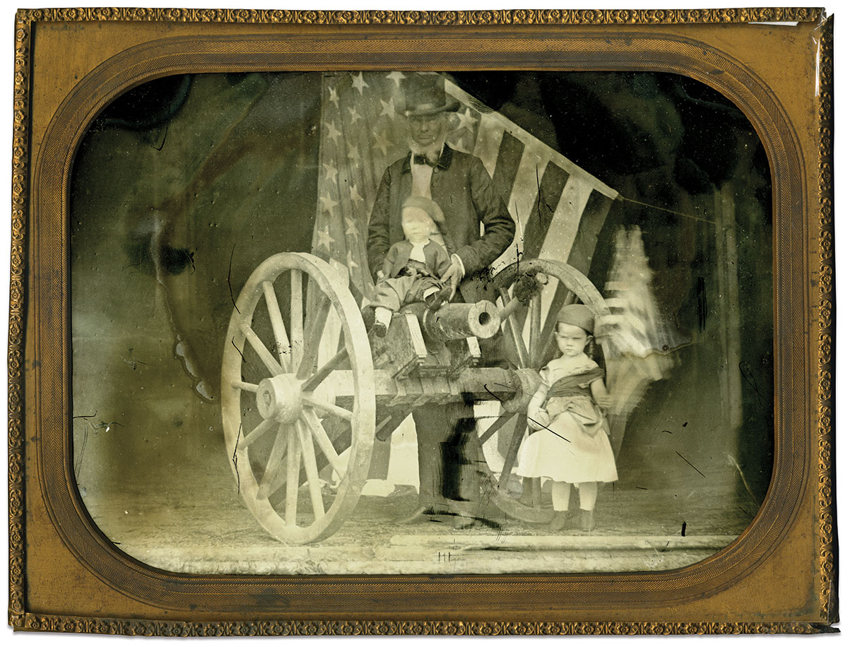 Full-plate ambrotype by an anonymous photographer. Doug York Collection.