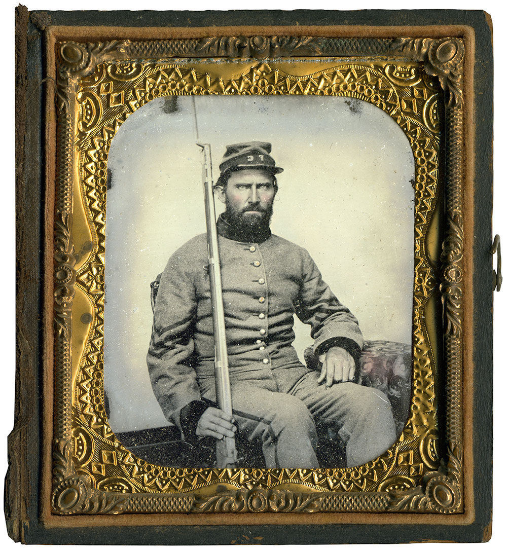Sixth-plate tintype attributed to Charles R. Rees of Richmond, Va. Charles Darden collection.