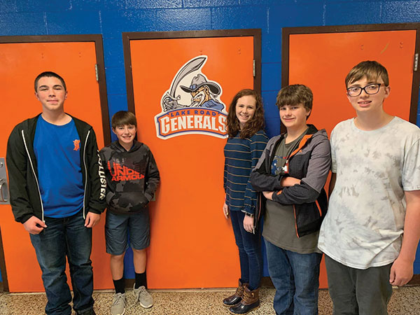 Jason's students, from left:  Jakob Russell, Ty Seaton, Rebecca Jones, J.C. Shell and Nick Lopez. Not pictured: Holly Williams. Courtesy Jason Lynn Pate.