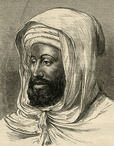 The Sultan, Muhammad ibn Abd al-Rahman, also known as Muhammad IV, pictured in the British weekly illustrated newspaper, The Graphic, in 1873.