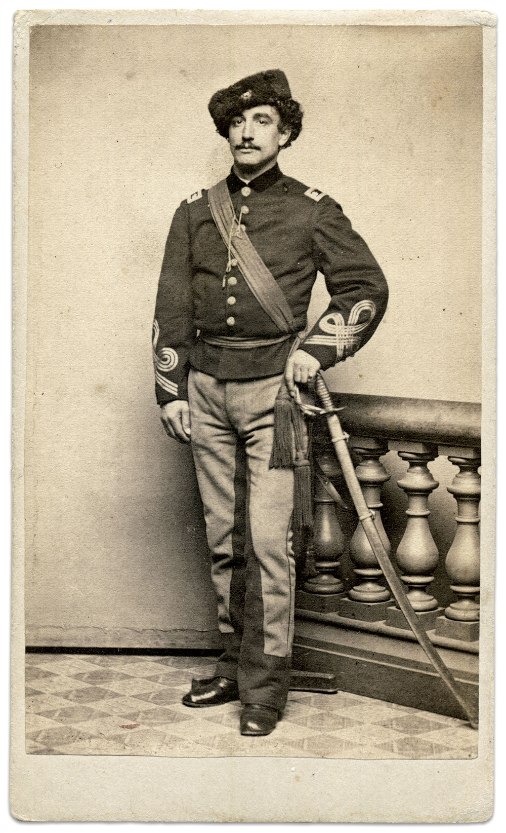 Carte de visite by an anonymous photographer. Karl Sundstrom Collection.