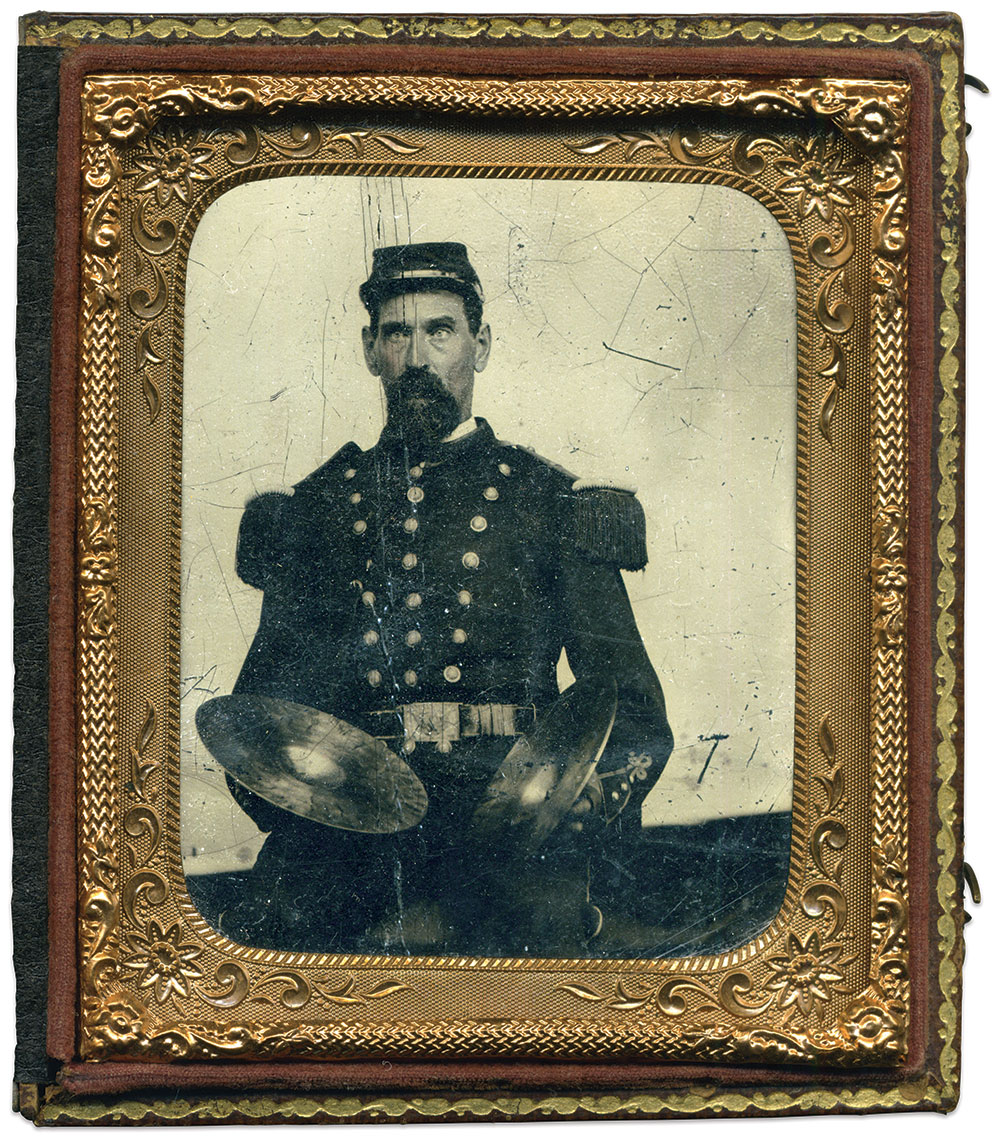 Sixth-plate tintype by an unidentified photographer. Karl Sundstrom Collection.