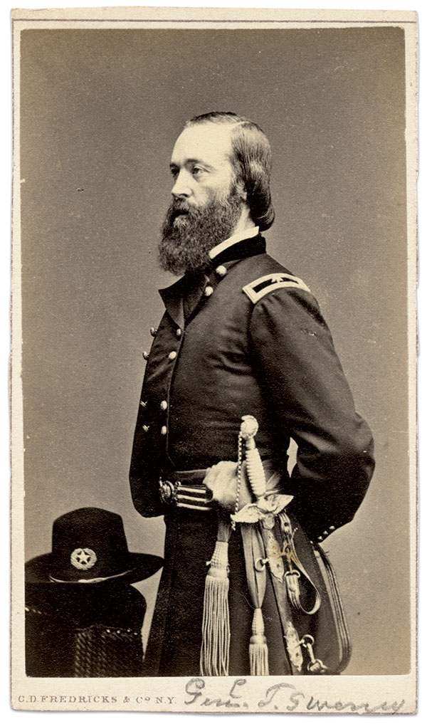 Thomas W. Sweeny. Carte de visite by Charles D. Fredricks & Co. of New York City. Tom Glass Collection.