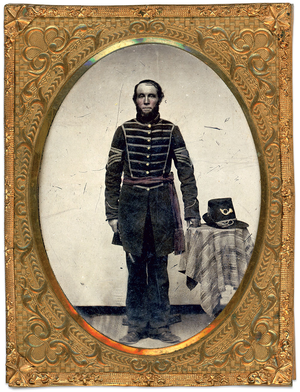 Quarter-plate tintype by an anonymous photographer. Jeff Dygert Collection.