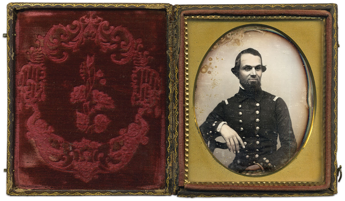 Sixth-plate ambrotype by an anonymous photographer. Thomas Harris Collection.