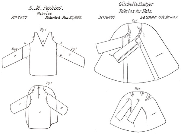 INNOVATIVE PATENTS: Improvements to felting and shrinking methods raised the quality of seamless garments. U.S. Patent Office.