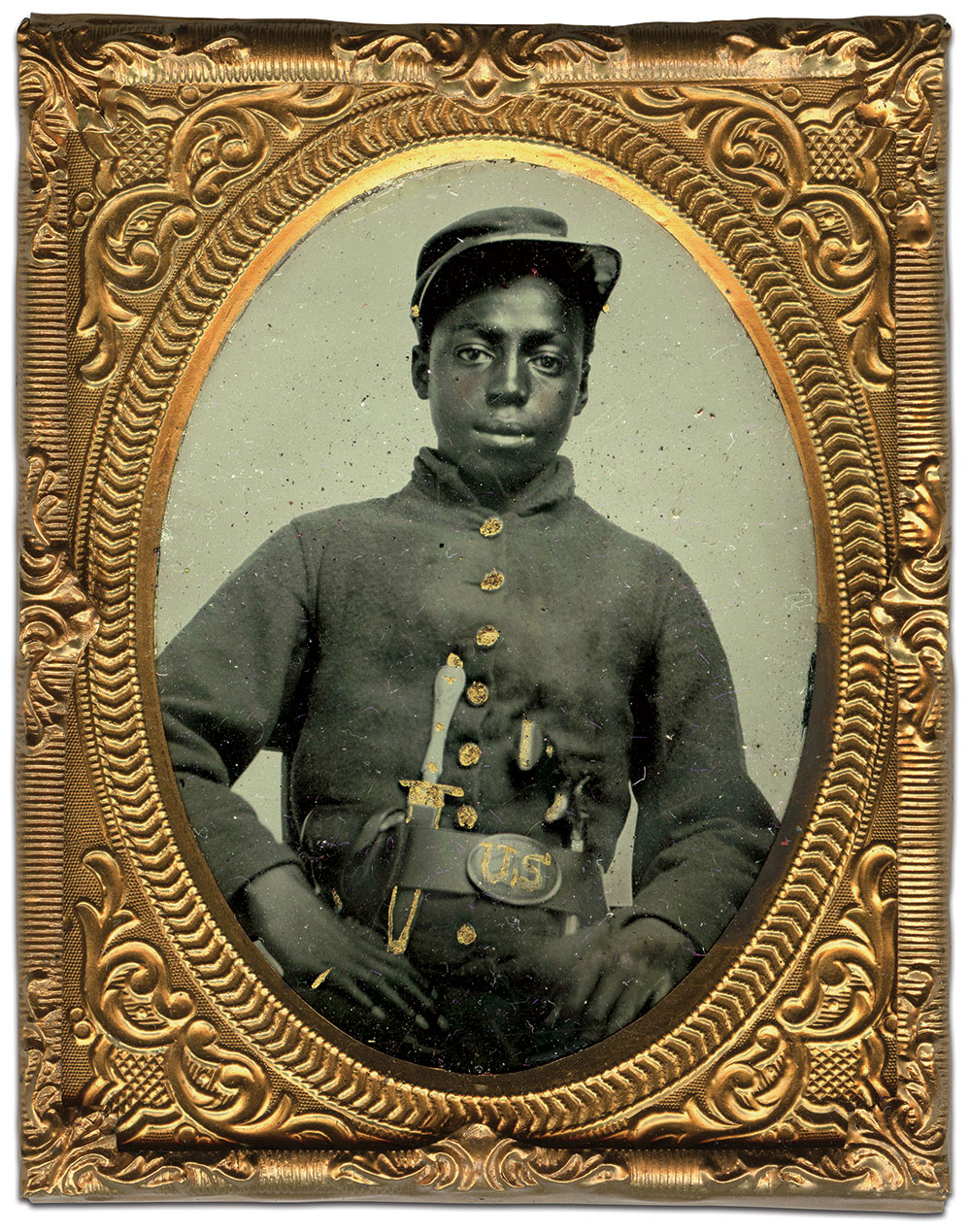 Ninth-plate tintype by an anonymous photographer. Doug York Collection.