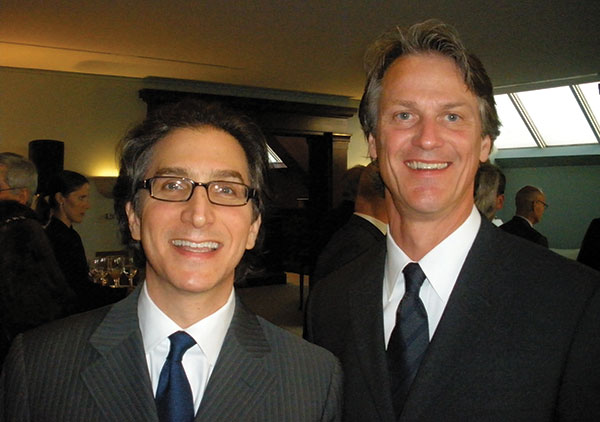 Vaughan, right, with Jeff Rosenheim, Curator in Charge of Metropolitan Museum's Department of Photographs, at the opening of the museum's 2013 exhibit, Photography and the American Civil War. Courtesy David W. Vaughan.