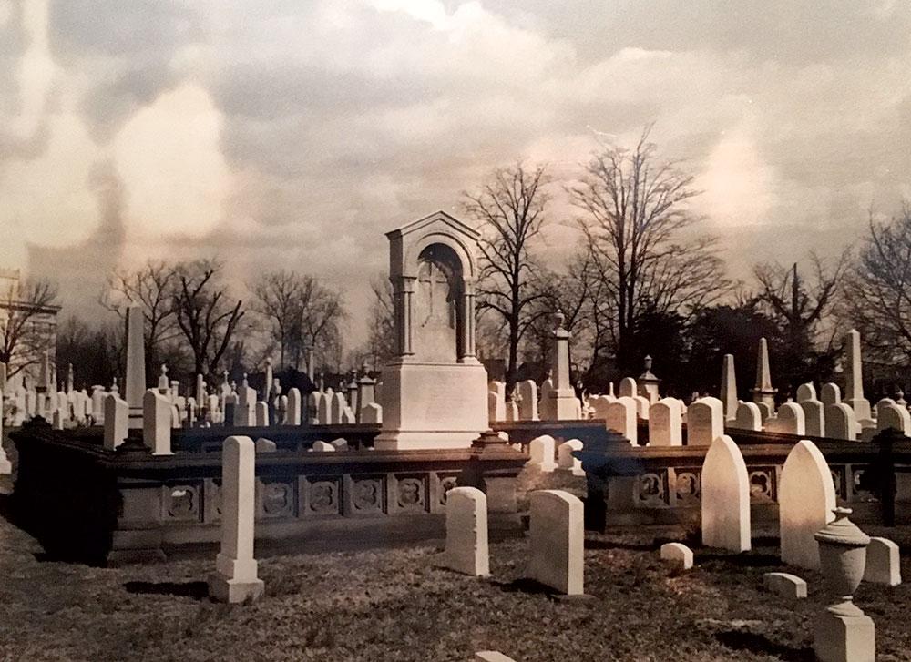 The Walker family plot in Baltimore's Green Mount Cemetery.