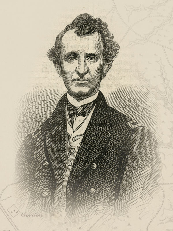 """Brig. Gen. William H.L. Wallace received praise from Gen. Ulysses S. Grant, who described him as """"a most estimable and able staff officer."""" Wallace suffered a mortal wound during the battle. Harper's Weekly."""