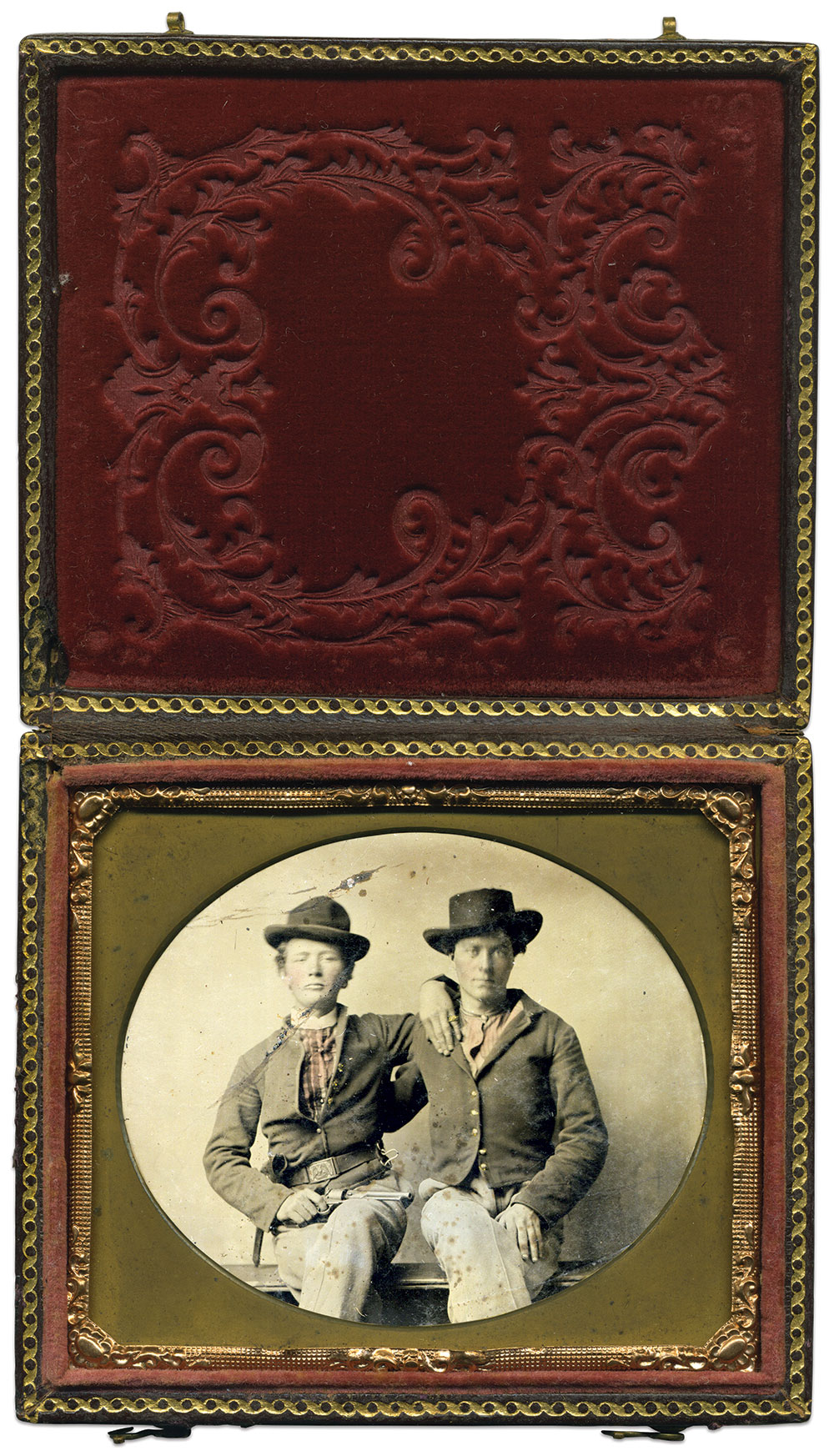 Sixth-plate tintype by an anonymous photographer. Tim Warren Collection.