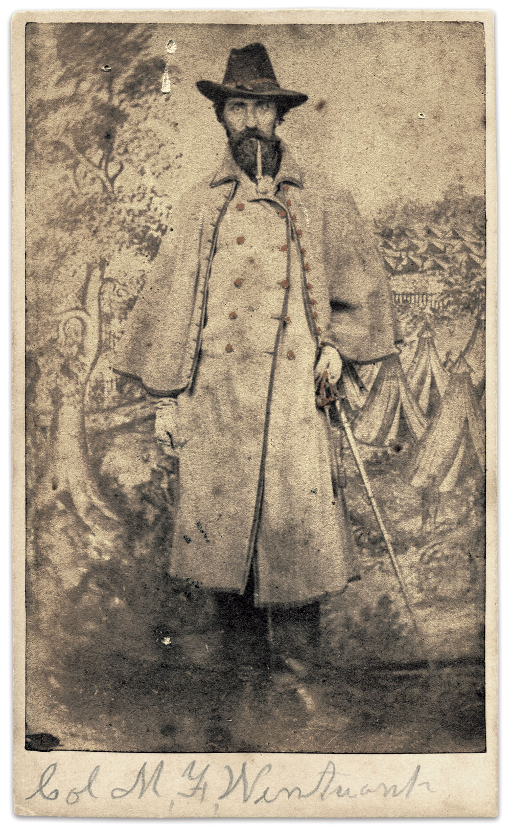 Col. Mark F. Wentworth, above, reconstructed a list of 299 men from the 27th Maine Infantry who received the Medal of Honor for not leaving the army.Carte de visite by Davis Brothers of Portsmouth, Maine. Author's Collection.