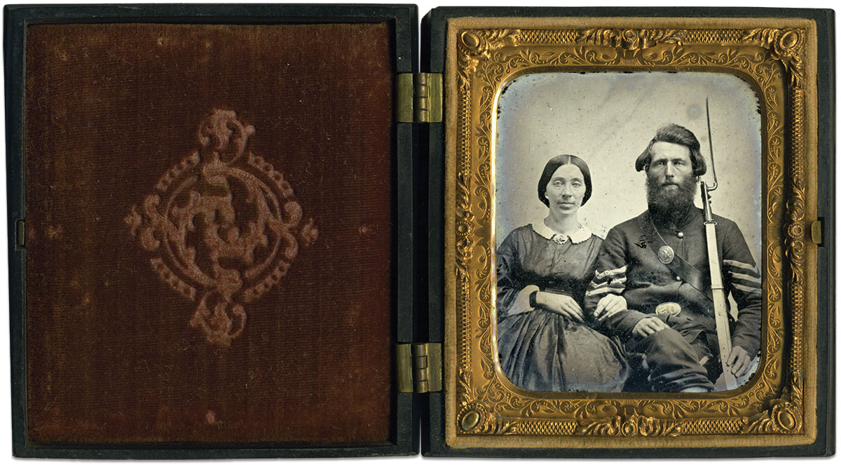 Sixth-plate tintype by an anonymous photographer. Mike Werner Collection.