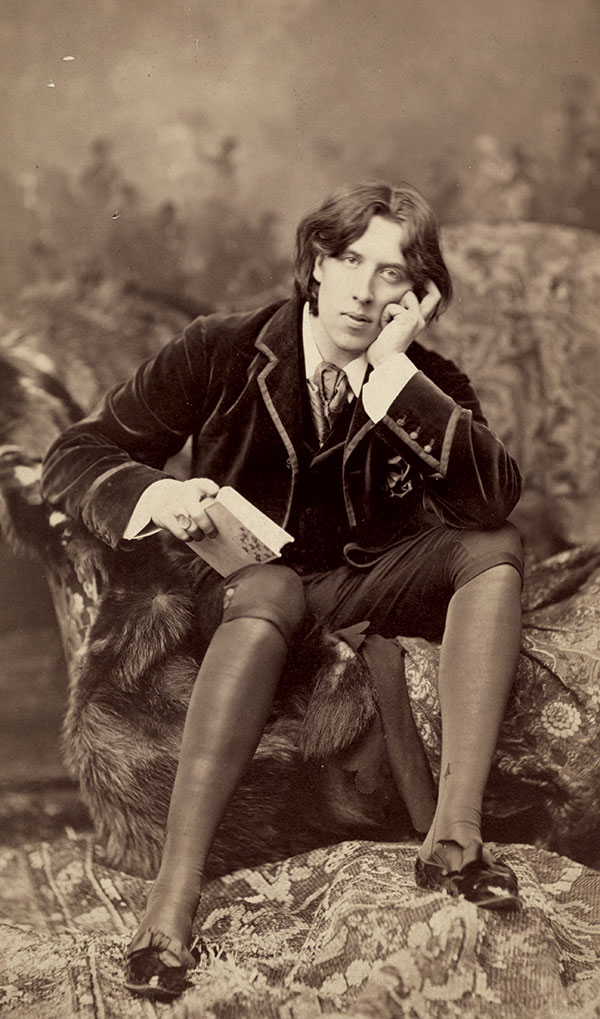 Copyright case: This portrait of Oscar Wilde by photographer Napoleon Sarony was reproduced without permission in an advertisement by the Burrow-Giles Lithographic Co. In a landmark 1884 case, the court found in favor of Sarony, reinforcing the legality of copyright protection for photographs.