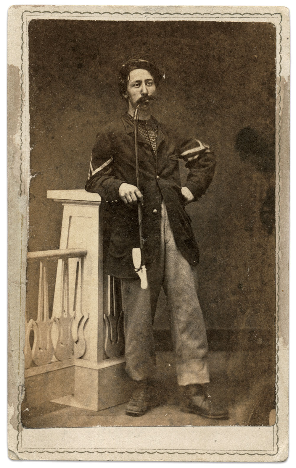 Carte de visite by N. Edwards of Dresden, Ohio. Mike Willey Collection.