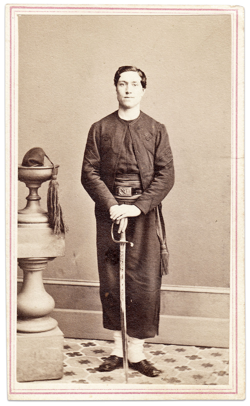 Carte de visite by Richard A. Lewis of New York City. Marty Schoenfeld Collection.