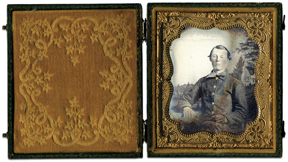 Sixth-plate ambrotype by an anonymous photographer. Jeff Kowalis collection.
