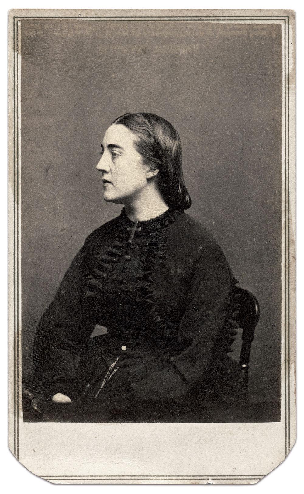 Rose Adéle Cutts Douglas Williams, circa 1864. Carte de visite by Mathew B. Brady of Washington, D.C. Ronald S. Coddington Collection.