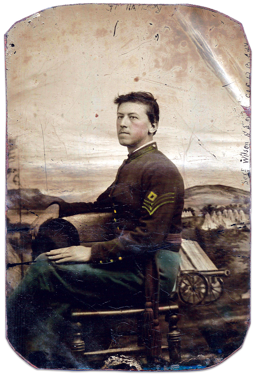 Sixth-plate tintype by an anonymous photographer. Britt C. Isenberg Collection.