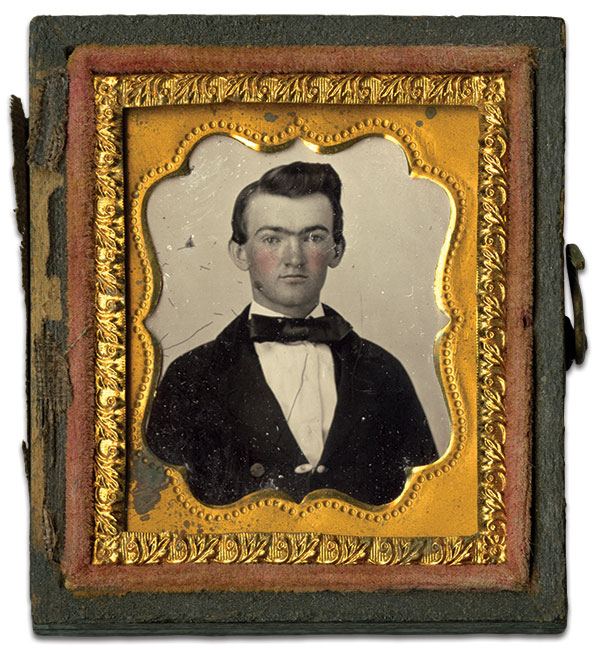 Paxton as a teenager, likely during his student days at Washington College. Gem-sized tintype by an anonymous photographer. Alexander Sterrett Paxton Papers, Washington & Lee University, Special Collections, James G. Leyburn Library.