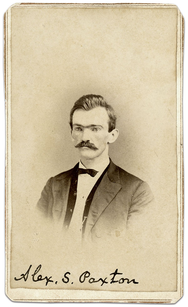 Paxton, circa 1867-1869. Carte de visite by an anonymous photographer. Alexander Sterrett Paxton Papers, Washington & Lee University, Special Collections, James G. Leyburn Library.
