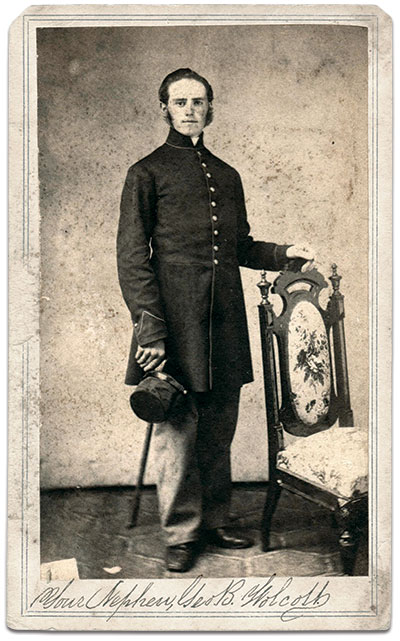 Carte de visite by D. Denison's Gallery of Albany, N.Y. Joseph Stickelmyer collection.