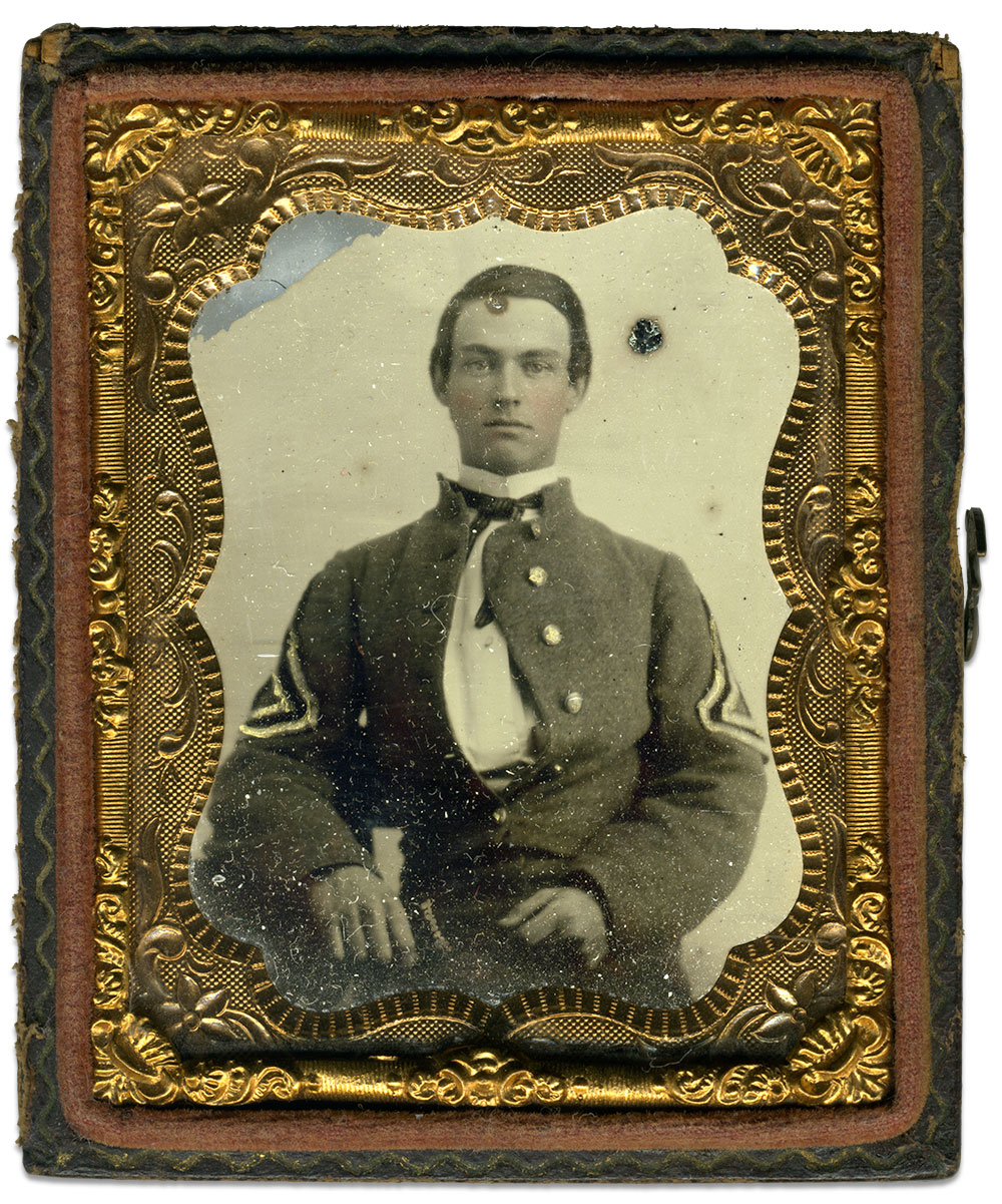 Sixth-plate ambrotype by an anonymous photographer. Paul Sparks collection.