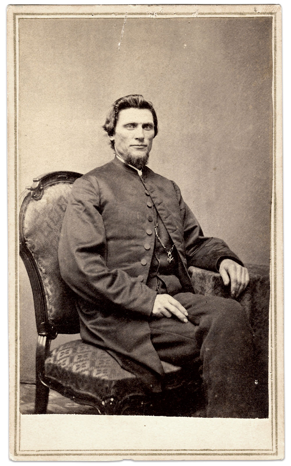 Carte de visite by Wilson & Shafer of Ottawa, Ill. Mike Cunningham Collection.