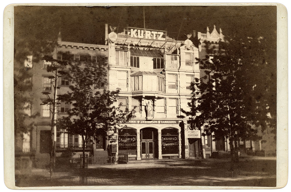 THE KURTZ GALLERY on East 23rd Street opposite Madison Square, after 1874. Cabinet card by William Kurtz. Doug York Collection.