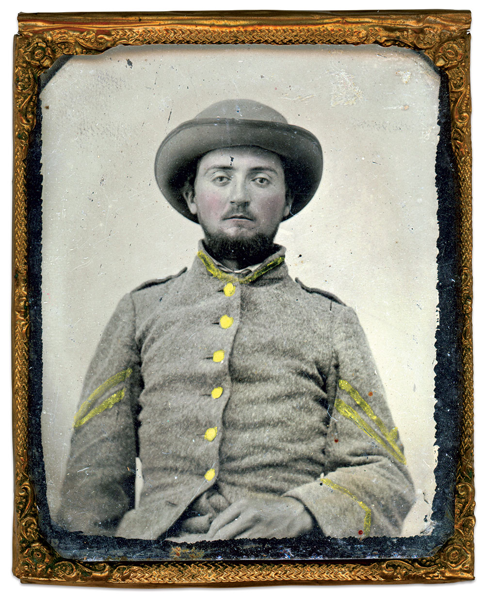 Sixth-plate tintype by an unidentified photographer. Rande Young Collection.