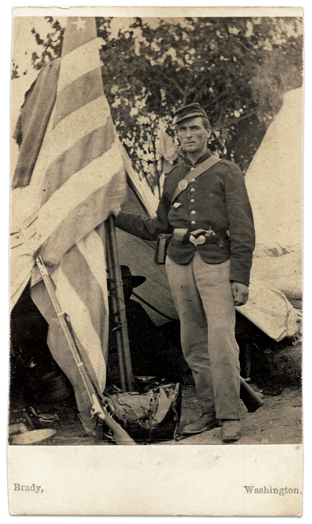 Carte de visite by Mathew B. Brady of Washington, D.C.