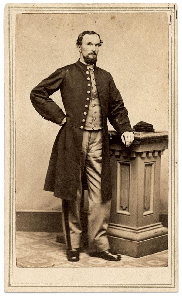 Albert Austin. Carte de visite by W. Hunt of New Haven, Conn. Buck Zaidel Collection.