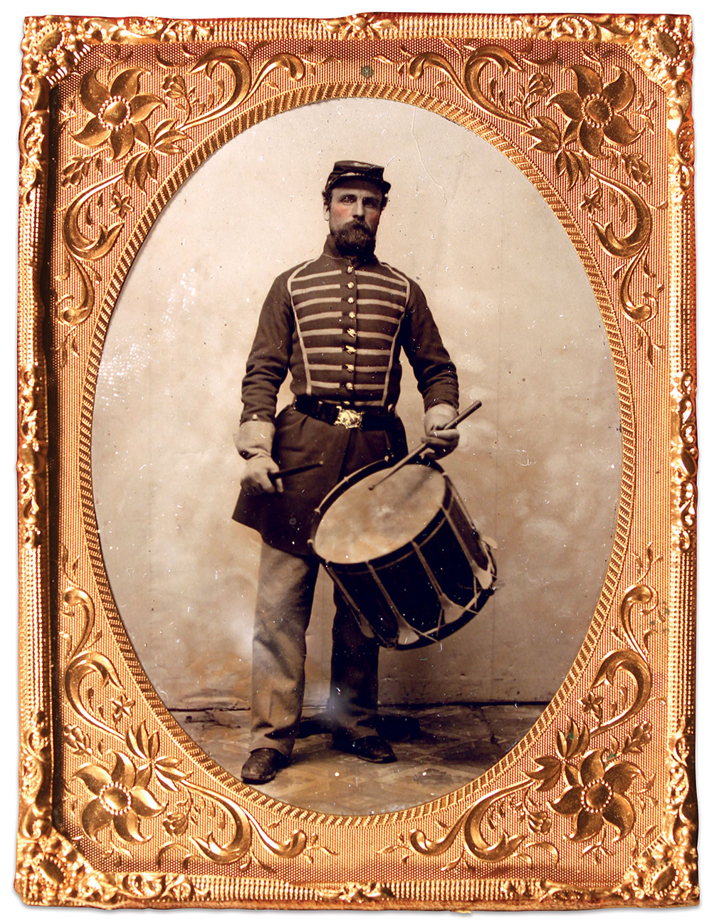 Quarter-plate tintype by an unidentified photographer. Buck Zaidel Collection.