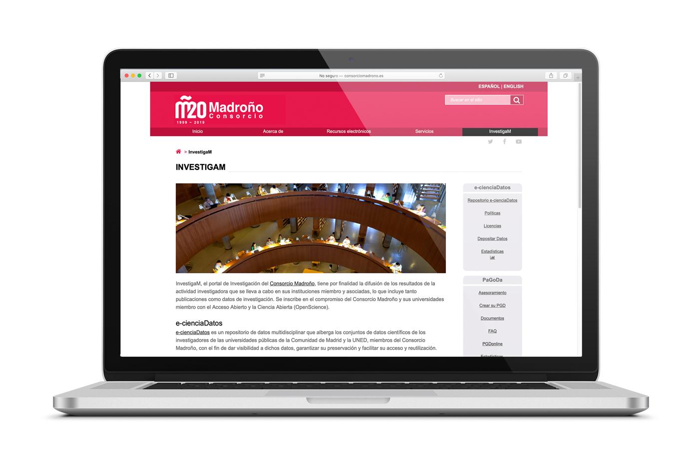 Portal InvestigaM del Consorcio Madroño