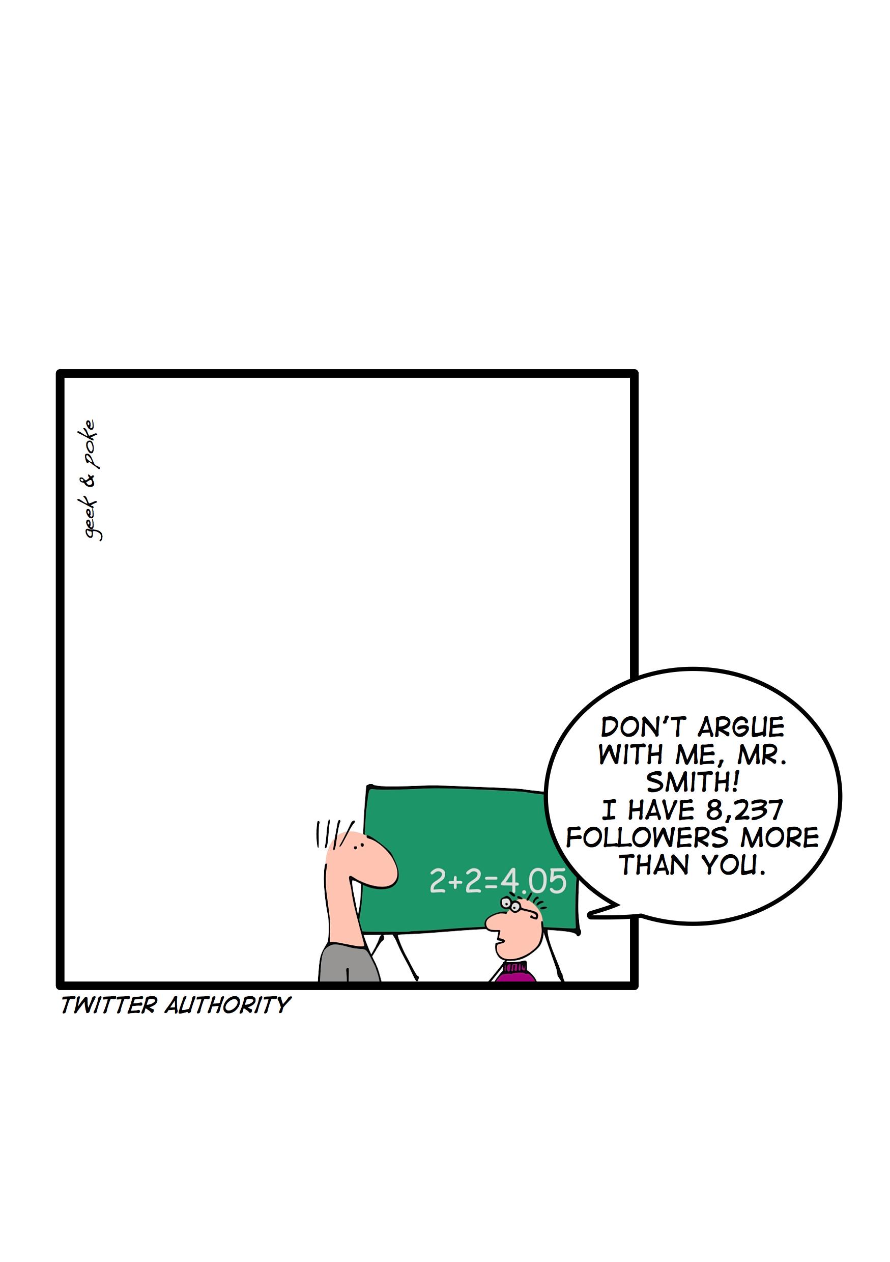 Autoridad digital. Fuente: Geek&Poke.