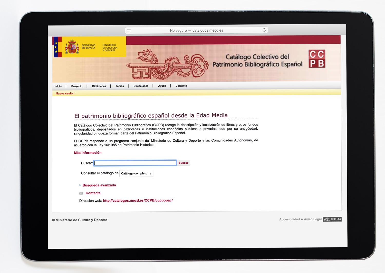 Catálogo colectivo de patrimonio bibliográfico español