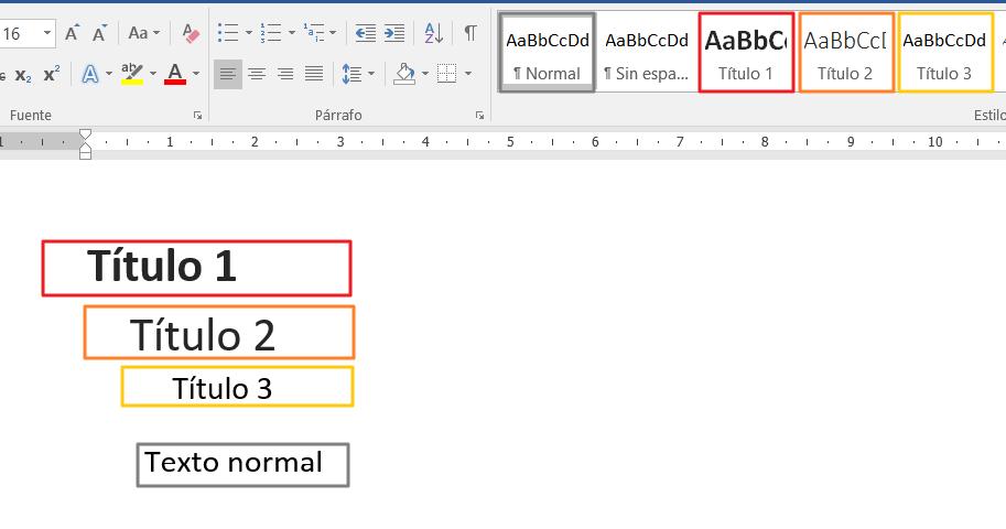 Ilustración 18– Títulos y formato del texto: aplicar estilos básicos