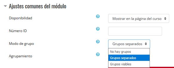 Grupos separados o grupos visibles