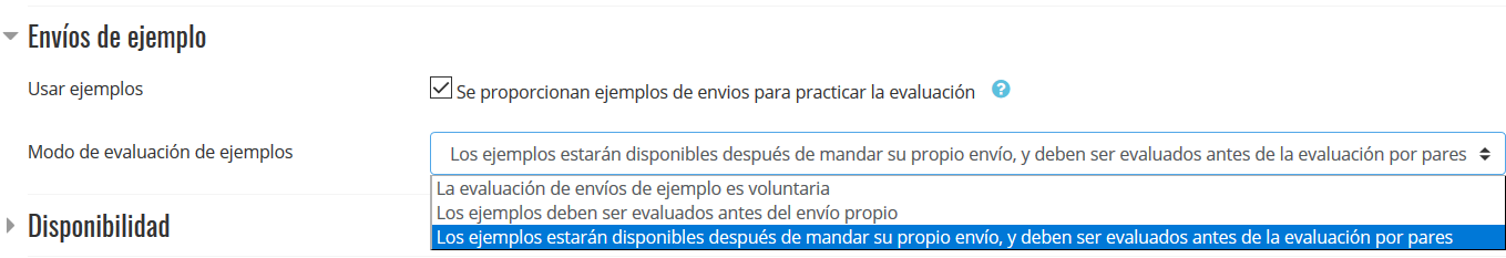 Envíos de ejemplo