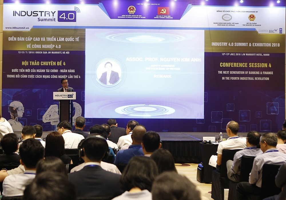 Deputy Governor of the State Bank of Vietnam (SBV) Nguyen Kim Anh speaks at the event (Photo: VNA)