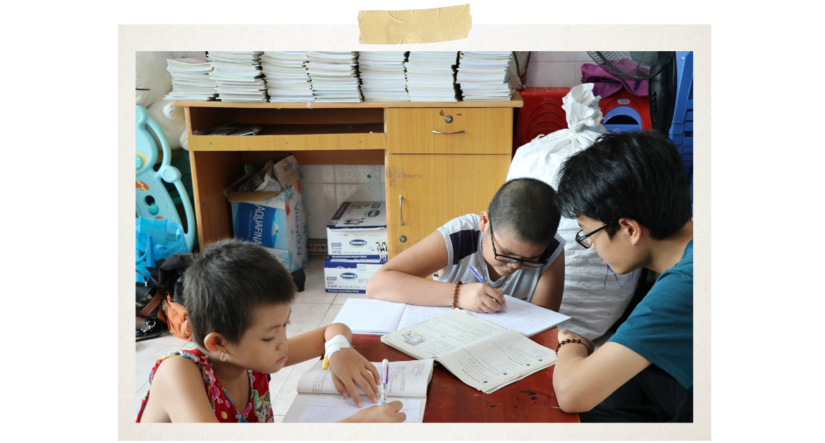 Tienwishes he will get over the illness to return to school (Photo: VietnamPlus)