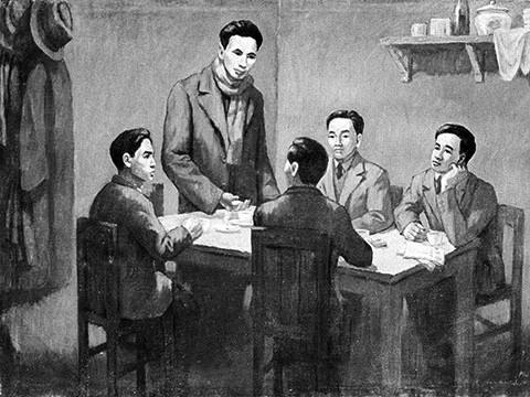 Từ ngày 6/1-7/2/1930, Hội nghị hợp nhất các tổ chức Cộng sản thành lập  Đảng Cộng sản Việt Nam họp ở bán đảo Cửu Long, thuộc Hong Kong (Trung  Quốc) dưới sự chủ trì của đồng chí Nguyễn Ái Quốc thay mặt cho Quốc tế  Cộng sản. (Nguồn: Tranh tư liệu/TTXVN phát)