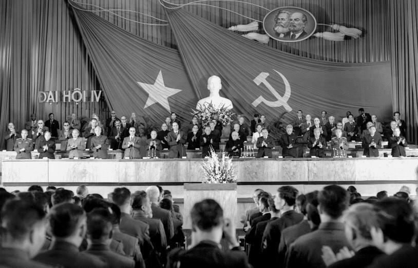 Đại hội đại biểu Đảng Cộng sản Việt Nam lần thứ IV được tổ chức từ ngày 14-20/12/1976 tại Hà Nội. Đồng chí Lê Duẩn được bầu làm Tổng Bí thư Ban Chấp hành Trung ương Đảng Cộng sản Việt Nam. (Nguồn: TTXVN)