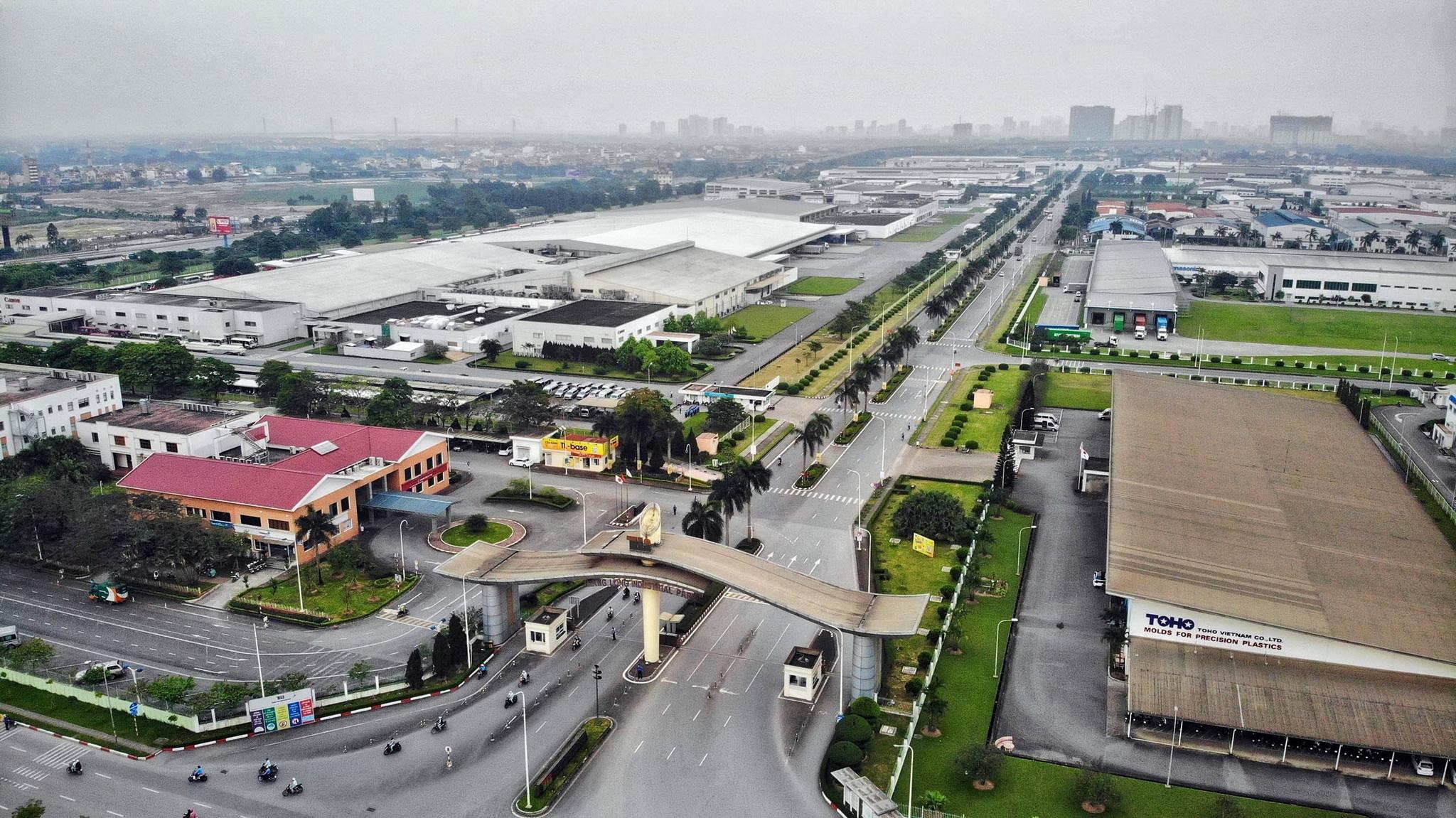 Toàn cảnh Khu công nghiệp Thăng Long Hà Nội. (Ảnh: Danh Lam/TTXVN)